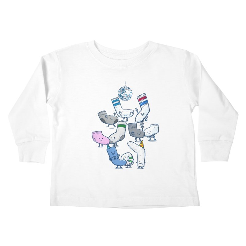 Lost Sock Party Kids Toddler Longsleeve T-Shirt by nickv47