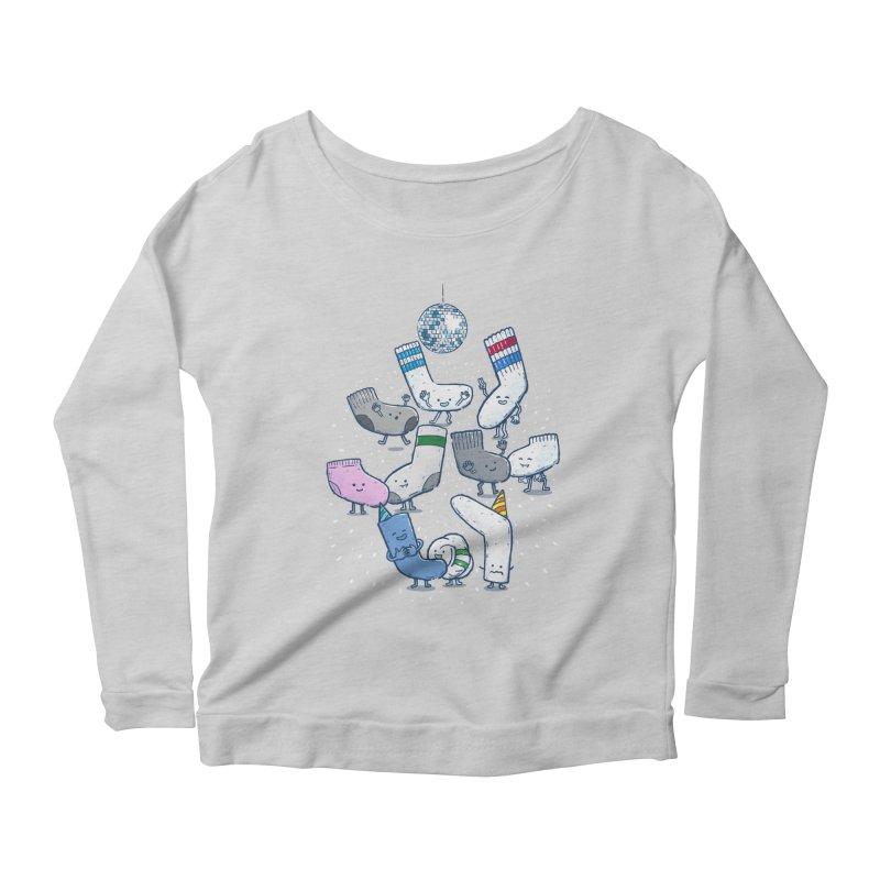 Lost Sock Party Women's Scoop Neck Longsleeve T-Shirt by nickv47