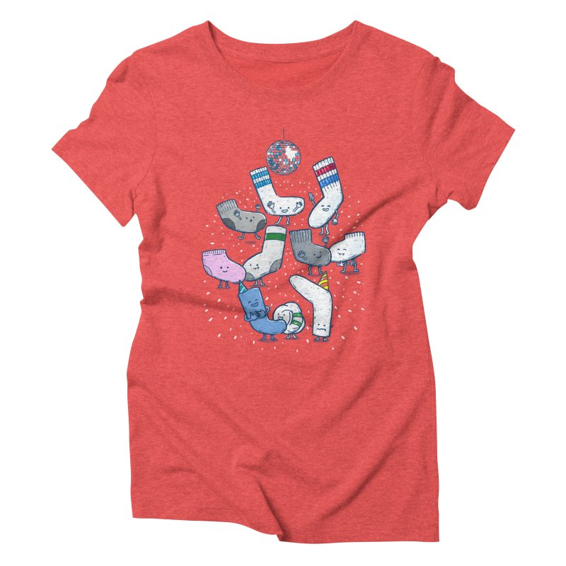 Lost Sock Party Women's Triblend T-Shirt by nickv47