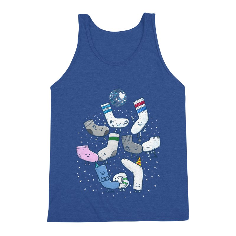 Lost Sock Party Men's Triblend Tank by nickv47