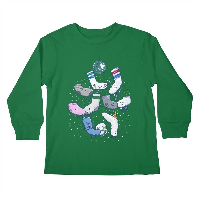 Lost Sock Party Kids Longsleeve T-Shirt by nickv47