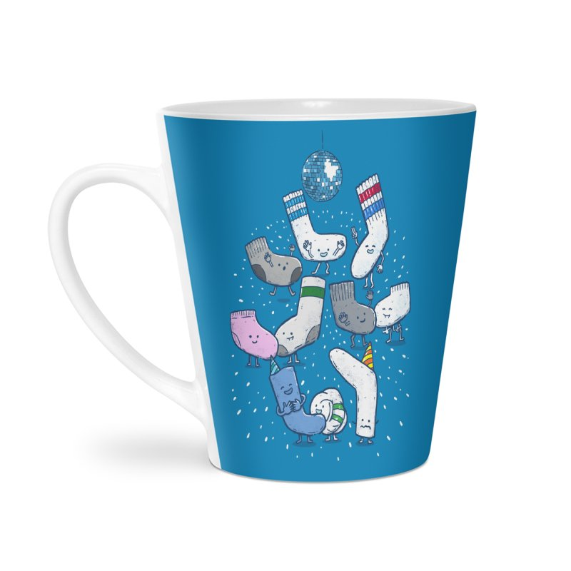 Lost Sock Party Accessories Latte Mug by nickv47