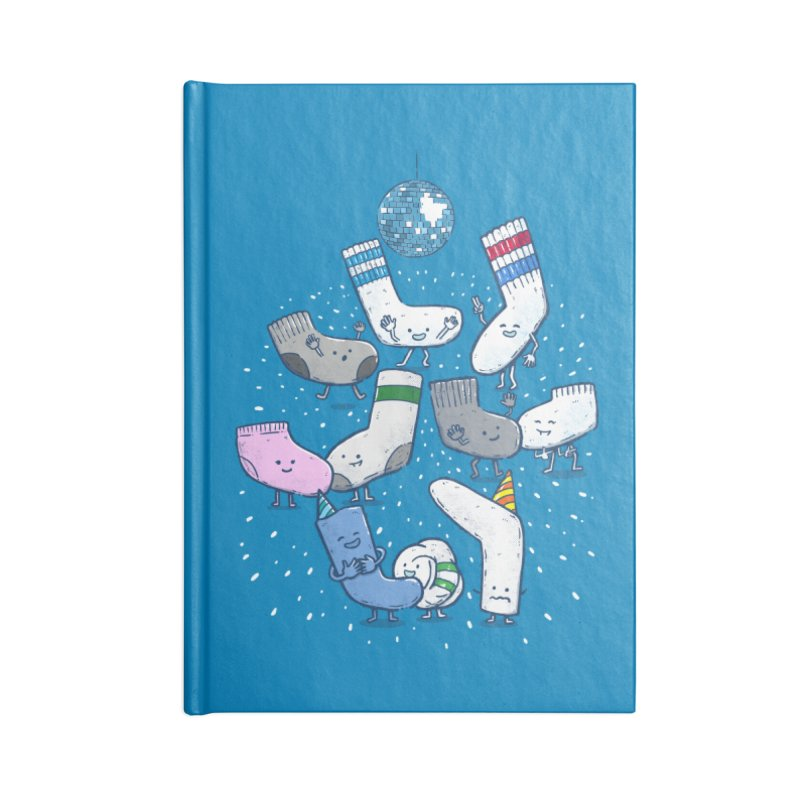 Lost Sock Party Accessories Blank Journal Notebook by nickv47
