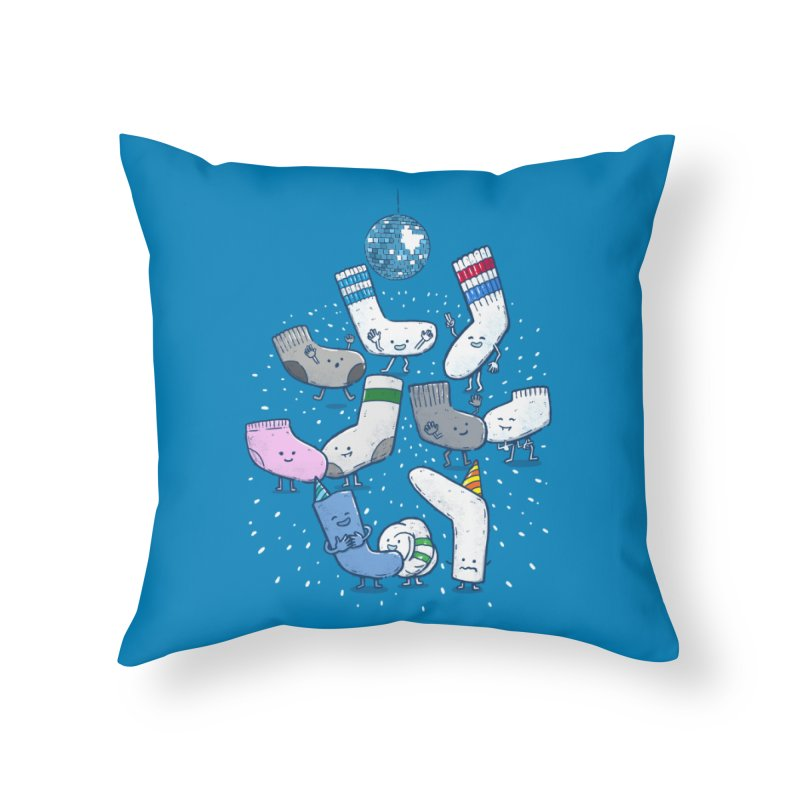 Lost Sock Party Home Throw Pillow by nickv47