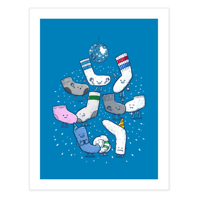 Lost Sock Party Home Fine Art Print by nickv47