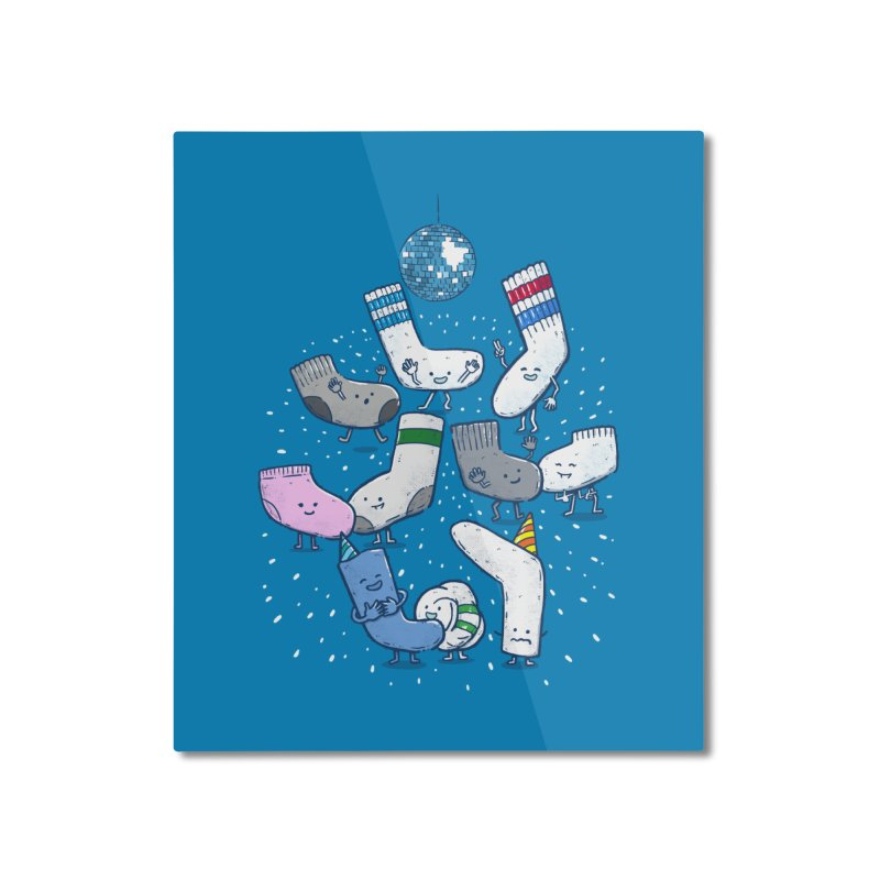 Lost Sock Party Home Mounted Aluminum Print by nickv47