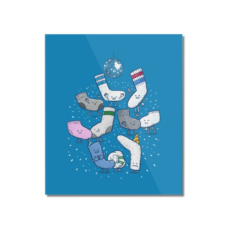 Lost Sock Party Home Mounted Acrylic Print by nickv47