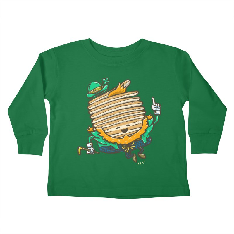 St Patrick Cakes Kids Toddler Longsleeve T-Shirt by nickv47