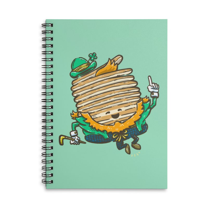 St Patrick Cakes Accessories Lined Spiral Notebook by nickv47
