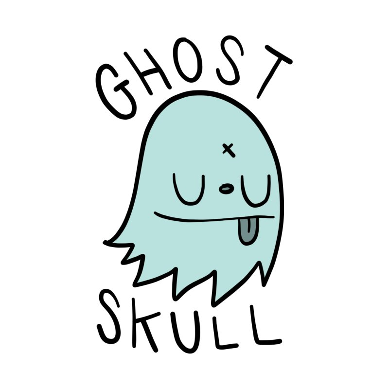 Ghost Skull Minty Fresh by Nicky Davis Threadless Shop