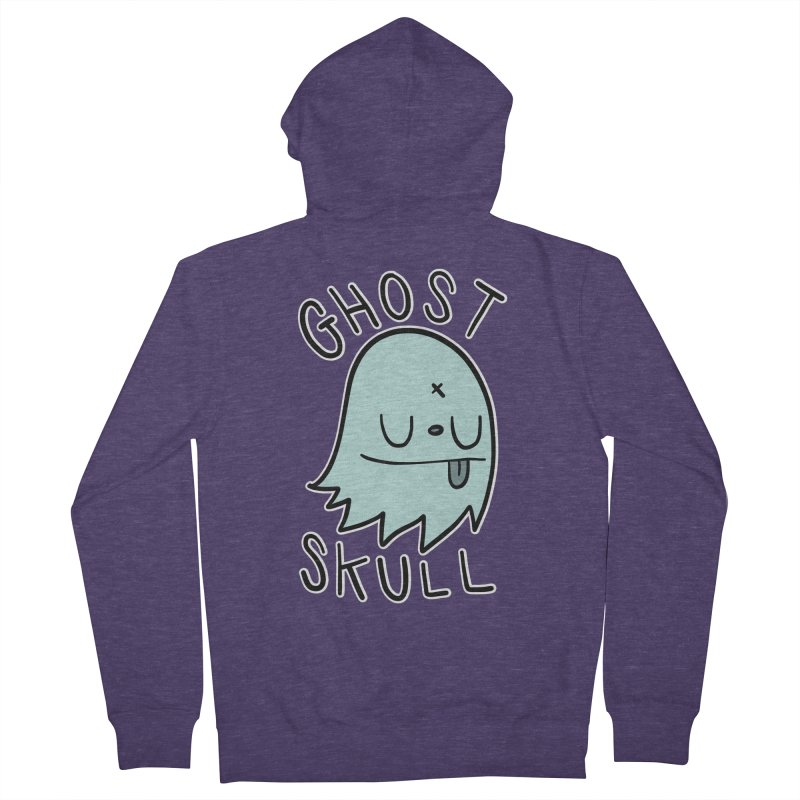 Ghost Skull Minty Fresh Men's French Terry Zip-Up Hoody by Nicky Davis Threadless Shop