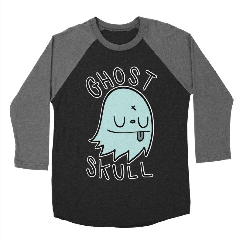 Ghost Skull Minty Fresh Men's Baseball Triblend Longsleeve T-Shirt by Nicky Davis Threadless Shop