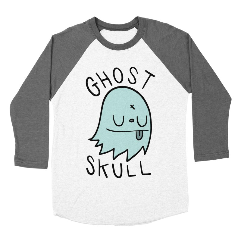 Ghost Skull Minty Fresh Men's Baseball Triblend Longsleeve T-Shirt by Nicky Davis Threadless Shop