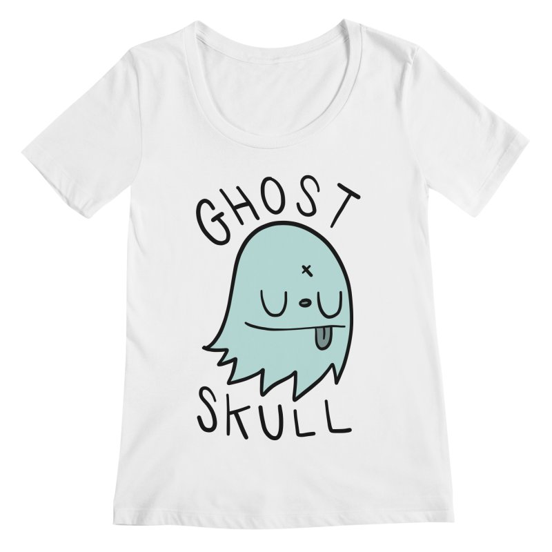 Ghost Skull Minty Fresh Women's Regular Scoop Neck by Nicky Davis Threadless Shop