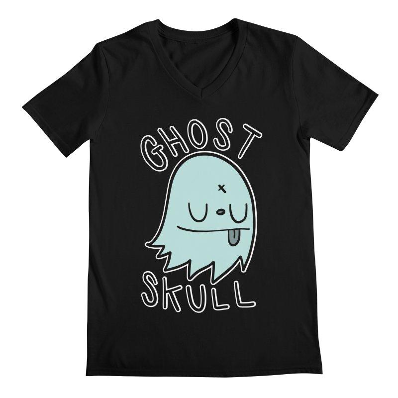 Ghost Skull Minty Fresh Men's Regular V-Neck by Nicky Davis Threadless Shop