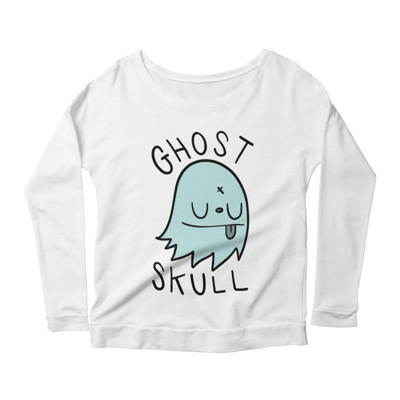 Ghost Skull Minty Fresh Women's Scoop Neck Longsleeve T-Shirt by Nicky Davis Threadless Shop