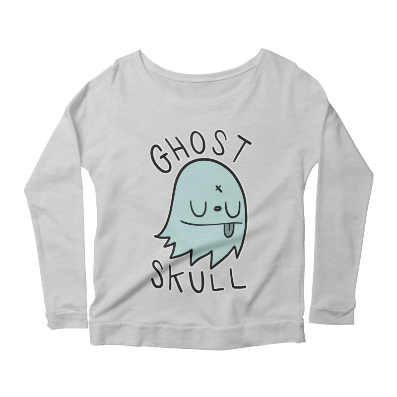 Ghost Skull Minty Fresh Women's Scoop Neck Longsleeve T-Shirt by Nicky Davis Threadless Shop