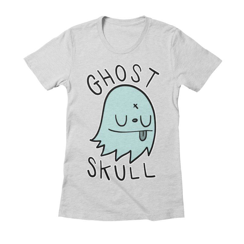 Ghost Skull Minty Fresh Women's Fitted T-Shirt by Nicky Davis Threadless Shop