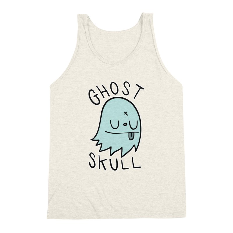 Ghost Skull Minty Fresh Men's Triblend Tank by Nicky Davis Threadless Shop