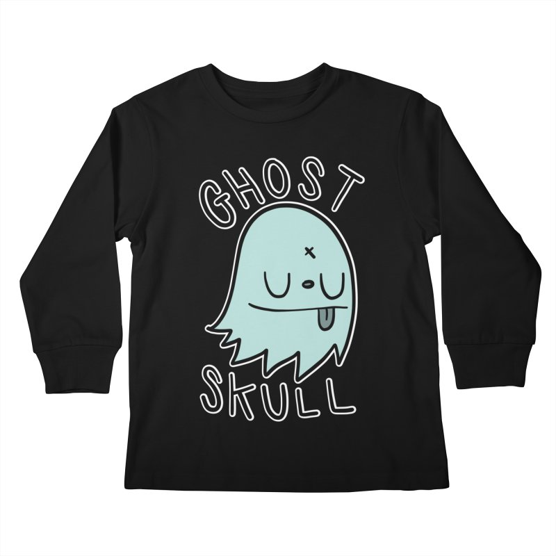 Ghost Skull Minty Fresh Kids Longsleeve T-Shirt by Nicky Davis Threadless Shop