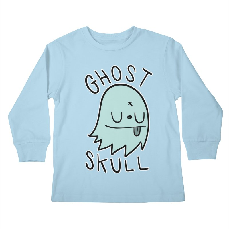 Ghost Skull Minty Fresh Kids Longsleeve T-Shirt by Nicky Davis Threadless Shop