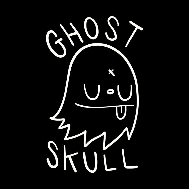 Ghost Skull White by Nicky Davis Threadless Shop