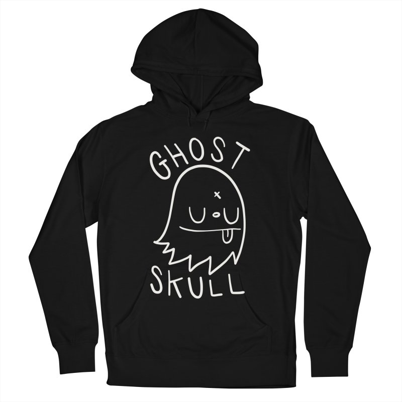Ghost Skull White Men's French Terry Pullover Hoody by Nicky Davis Threadless Shop