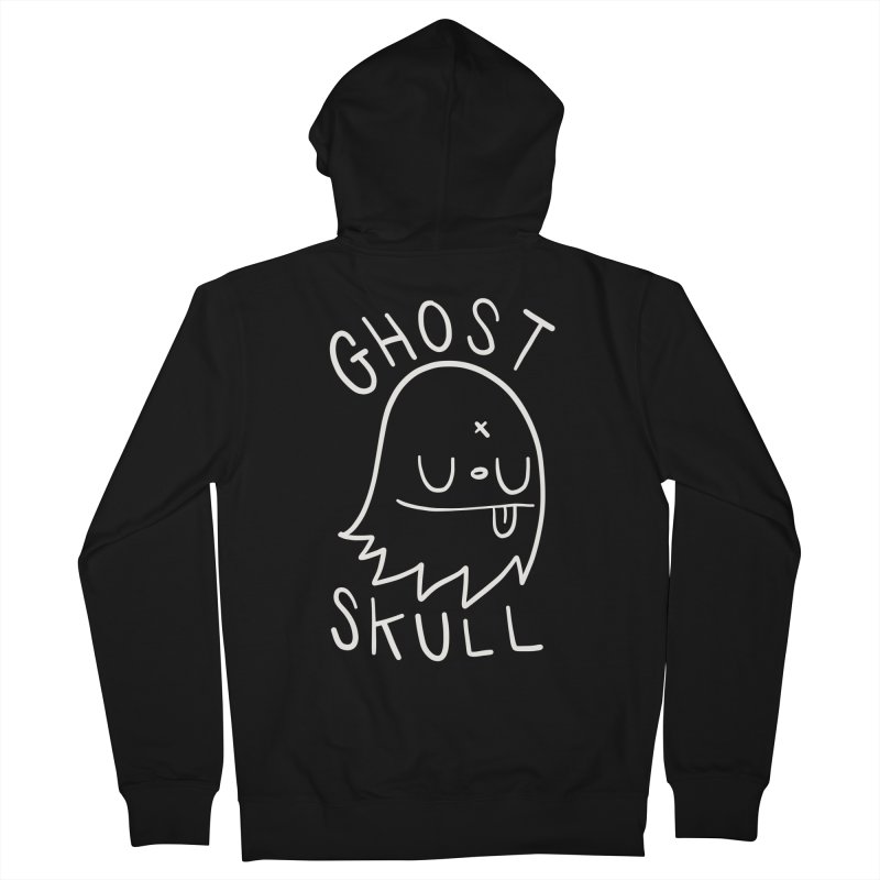 Ghost Skull White Women's French Terry Zip-Up Hoody by Nicky Davis Threadless Shop