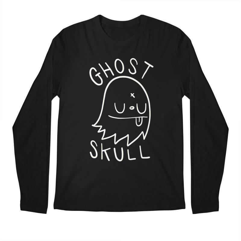 Ghost Skull White Men's Regular Longsleeve T-Shirt by Nicky Davis Threadless Shop
