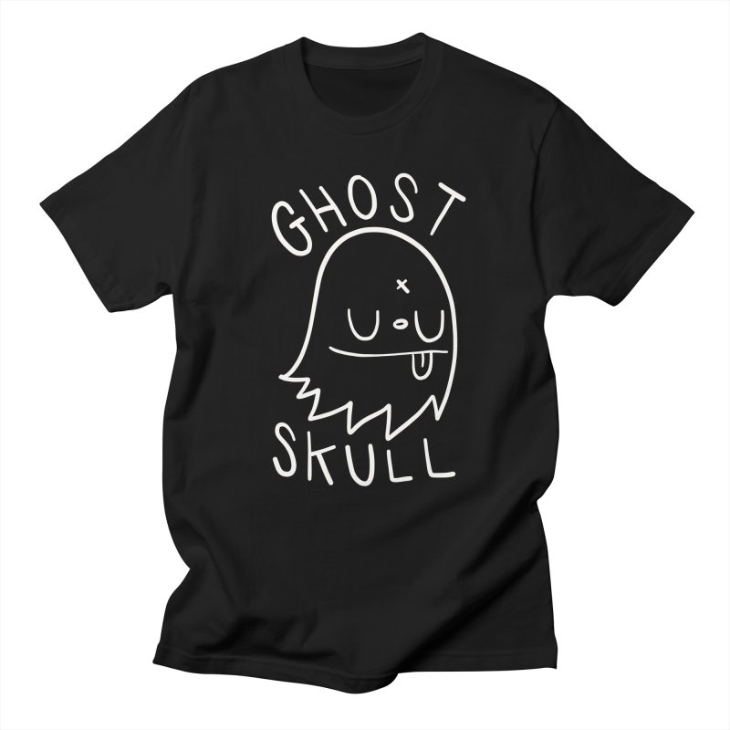 Ghost Skull White Men's Regular T-Shirt by Nicky Davis Threadless Shop