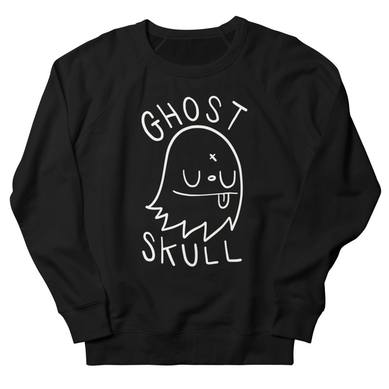 Ghost Skull White Women's French Terry Sweatshirt by Nicky Davis Threadless Shop