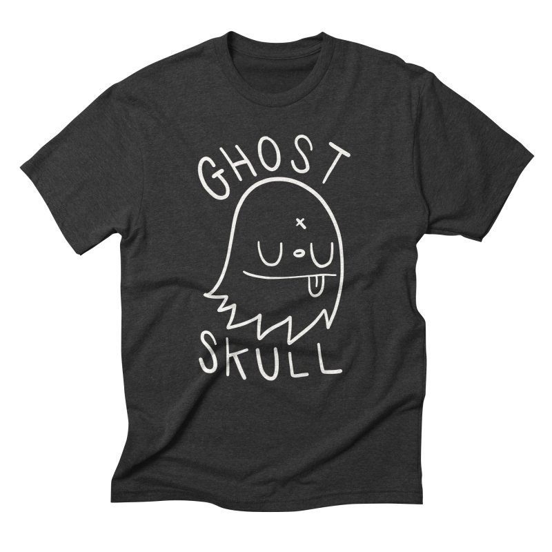 Ghost Skull White Men's Triblend T-Shirt by Nicky Davis Threadless Shop