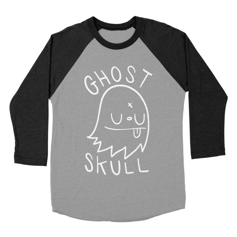 Ghost Skull White Women's Baseball Triblend Longsleeve T-Shirt by Nicky Davis Threadless Shop