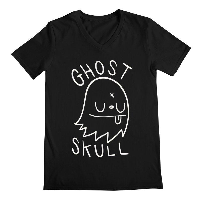 Ghost Skull White Men's Regular V-Neck by Nicky Davis Threadless Shop