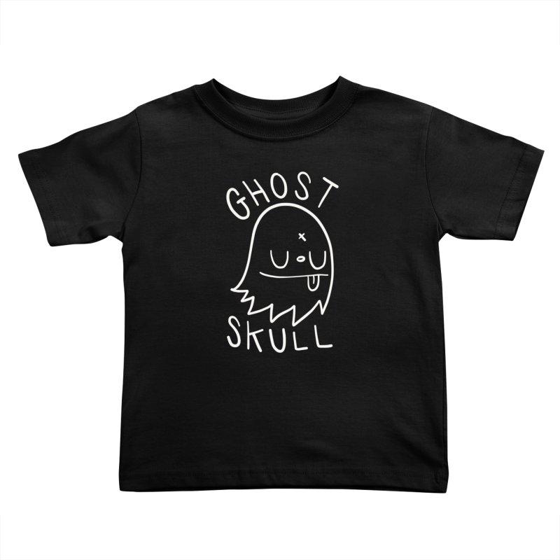 Ghost Skull White Kids Toddler T-Shirt by Nicky Davis Threadless Shop