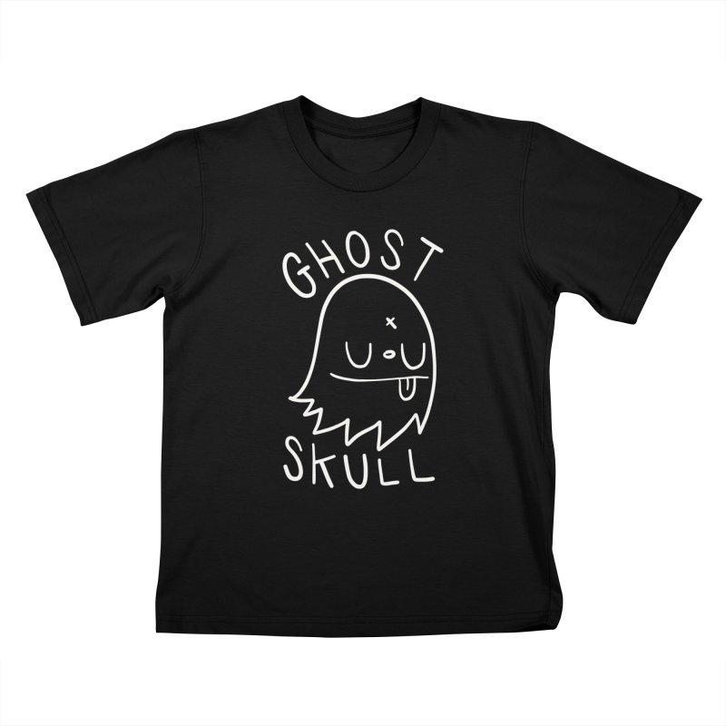 Ghost Skull White Kids T-Shirt by Nicky Davis Threadless Shop