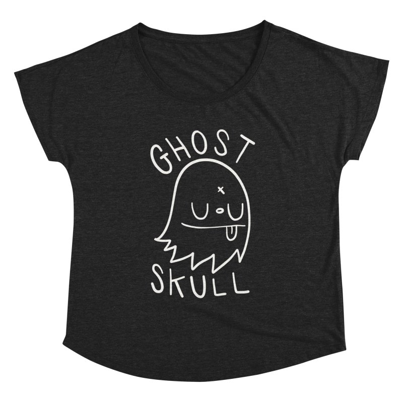 Ghost Skull White Women's Dolman Scoop Neck by Nicky Davis Threadless Shop