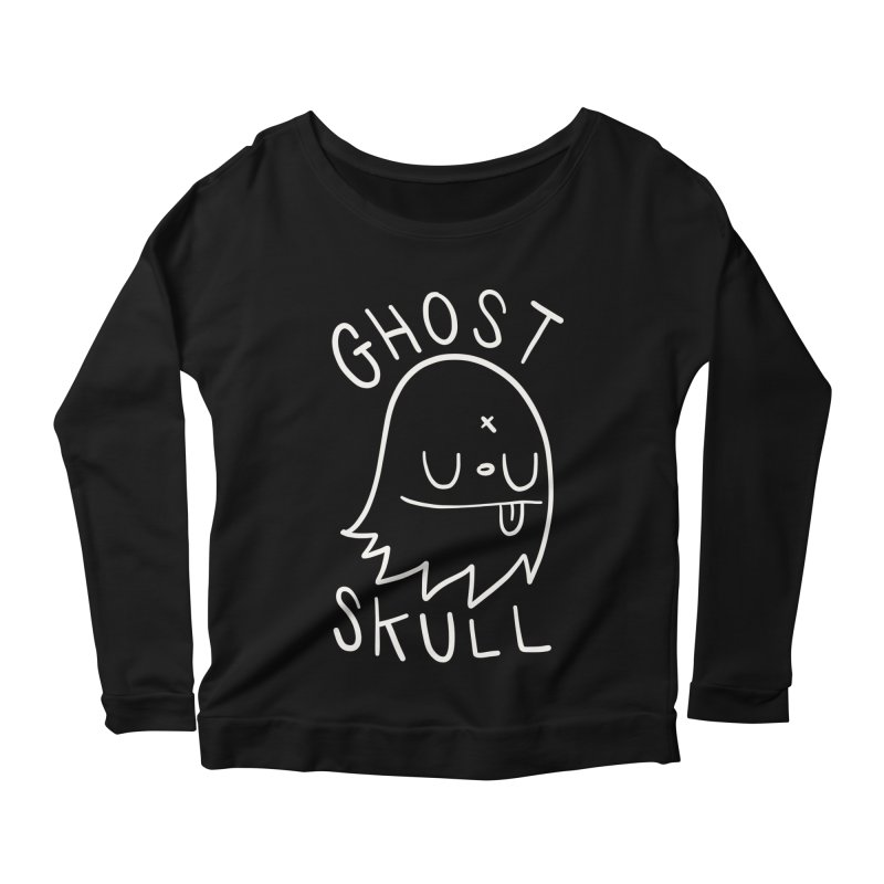 Ghost Skull White Women's Scoop Neck Longsleeve T-Shirt by Nicky Davis Threadless Shop