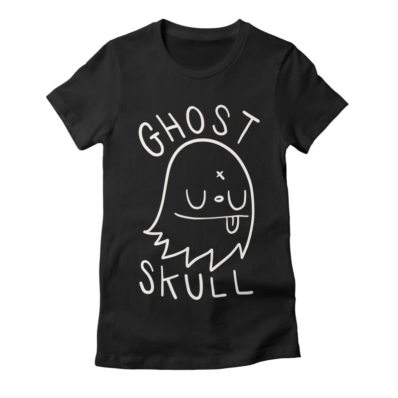Ghost Skull White Women's Fitted T-Shirt by Nicky Davis Threadless Shop