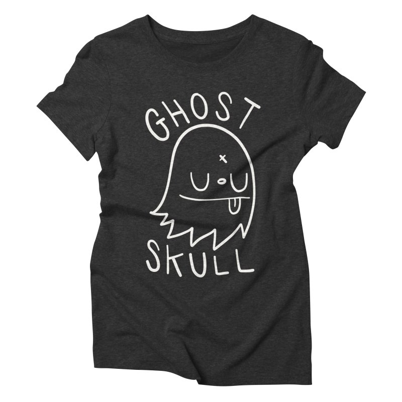 Ghost Skull White Women's Triblend T-Shirt by Nicky Davis Threadless Shop