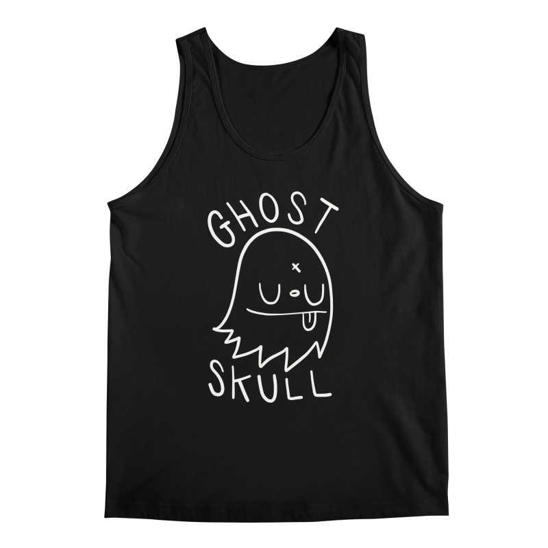 Ghost Skull White Men's Regular Tank by Nicky Davis Threadless Shop