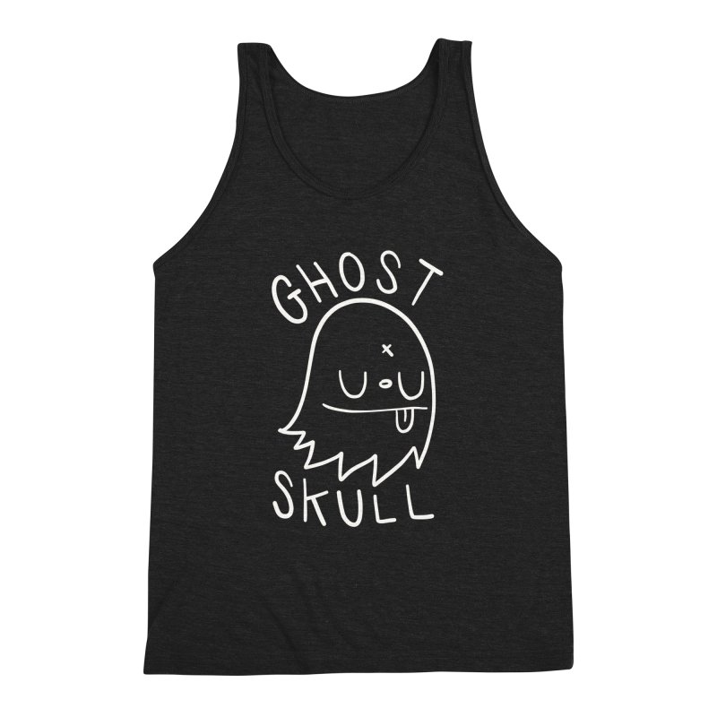 Ghost Skull White Men's Triblend Tank by Nicky Davis Threadless Shop
