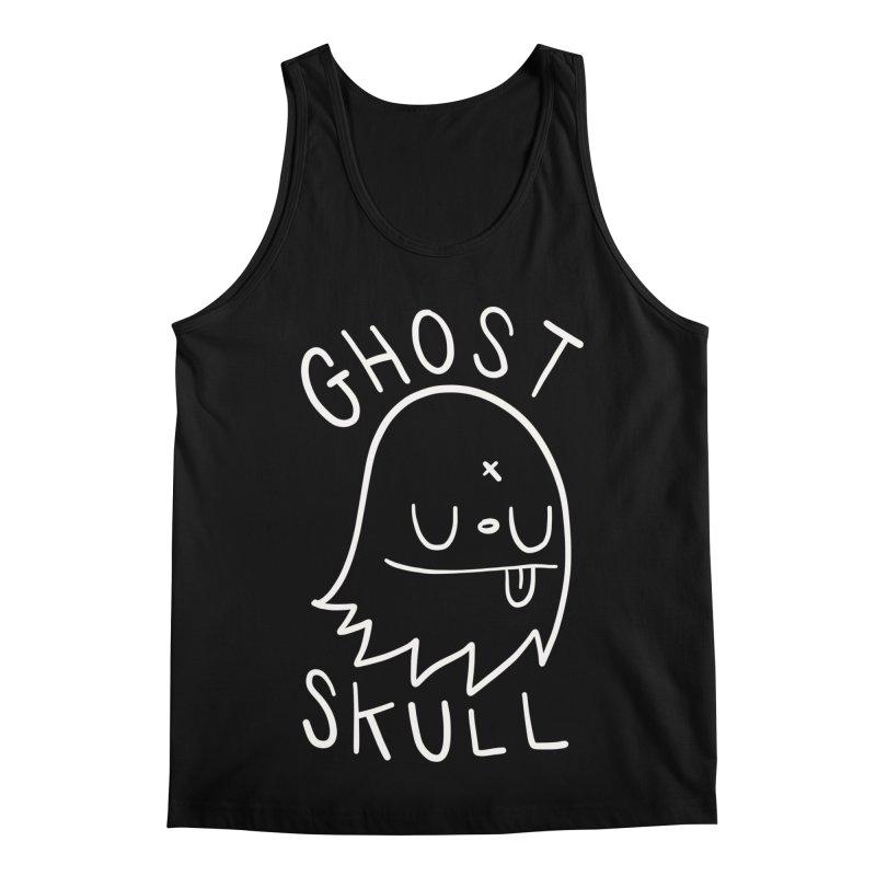 Ghost Skull White Men's Regular Tank by Nicky Davis Threadless Shop