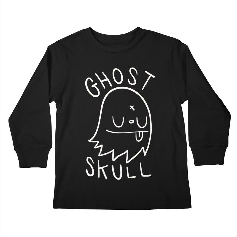Ghost Skull White Kids Longsleeve T-Shirt by Nicky Davis Threadless Shop