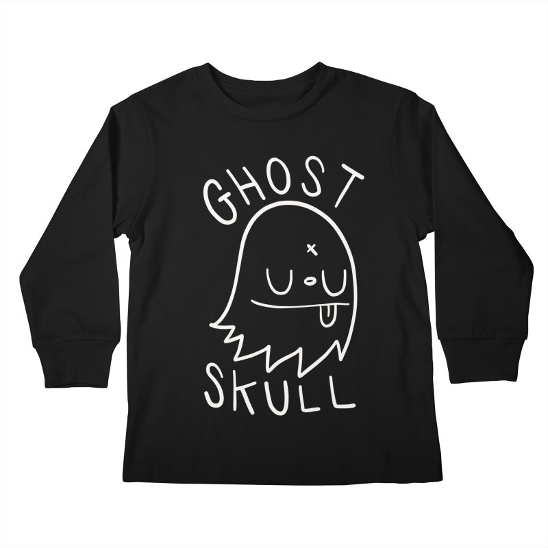 Ghost Skull White Kids Longsleeve T-Shirt by Nicky Davis Threadless Shop