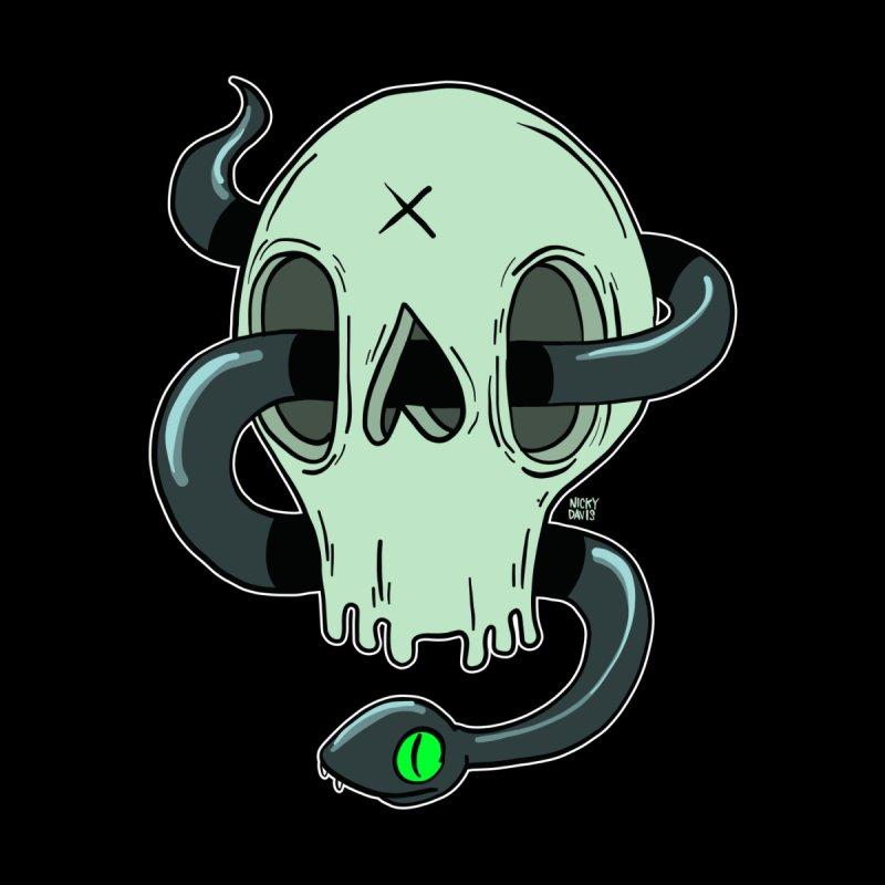 Snake and Skull by Nicky Davis Threadless Shop