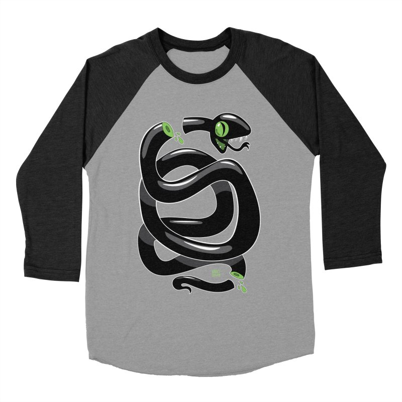 Chopped Snake Men's Baseball Triblend Longsleeve T-Shirt by Nicky Davis Threadless Shop