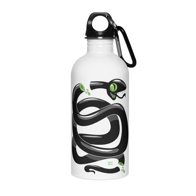 Chopped Snake Accessories Water Bottle by Nicky Davis Threadless Shop