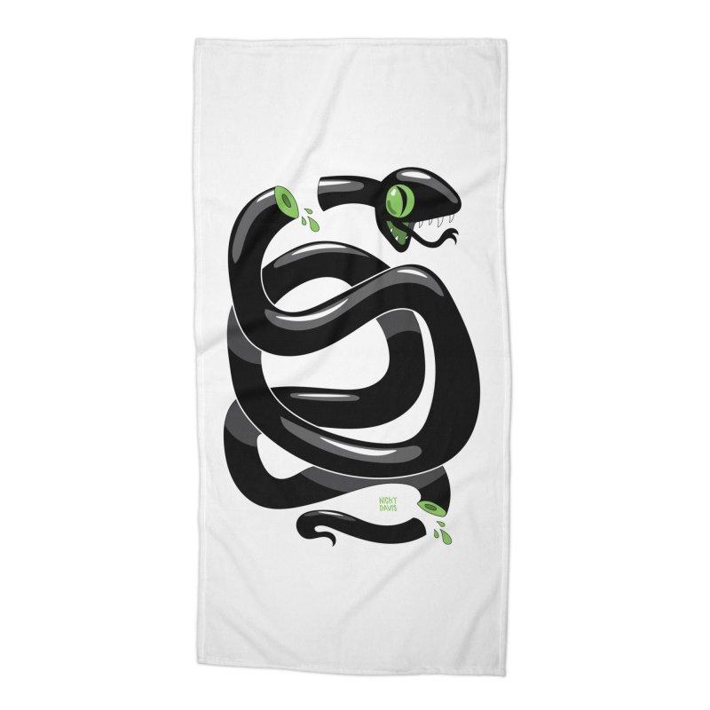 Chopped Snake Accessories Beach Towel by Nicky Davis Threadless Shop
