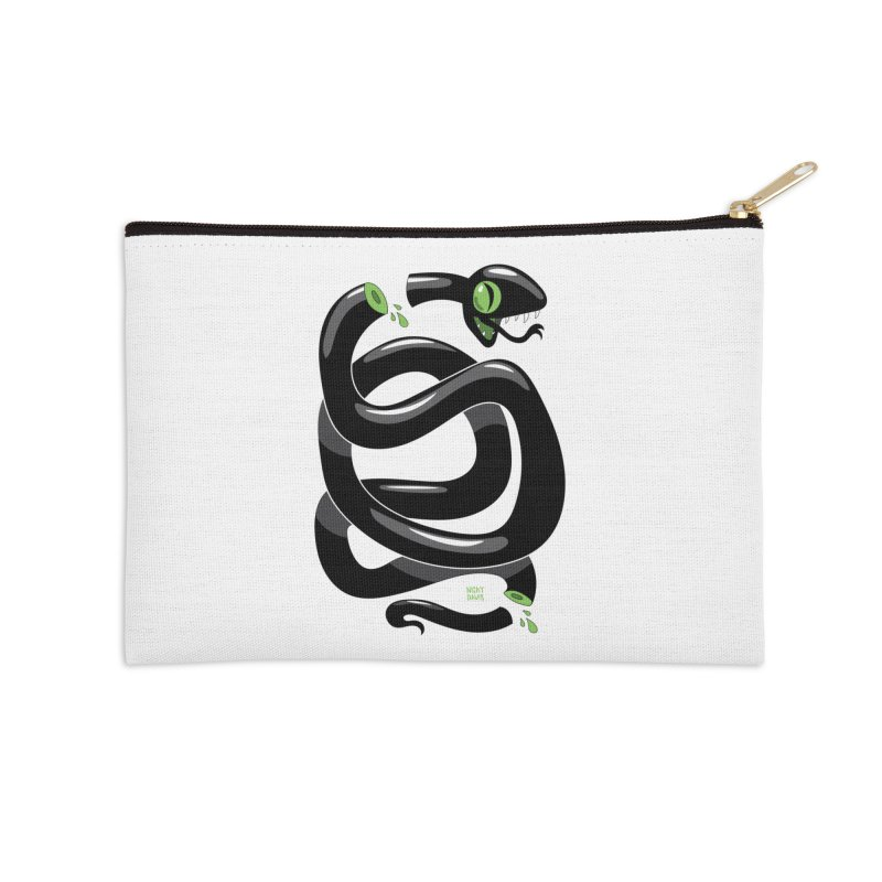 Chopped Snake Accessories Zip Pouch by Nicky Davis Threadless Shop